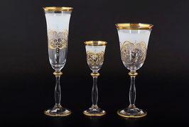 Набор бокалов АЛЕКСАНДРА МАТОВАЯ Bohemia Crystal 18 предметов