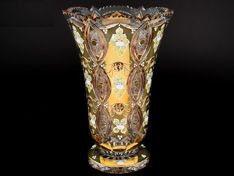 ХРУСТАЛЬ С ЗОЛОТОМ ваза для цветов 40 см