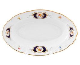 Блюдо овальное глубокое Bernadotte СИНИЙ ГЛАЗ 24 см