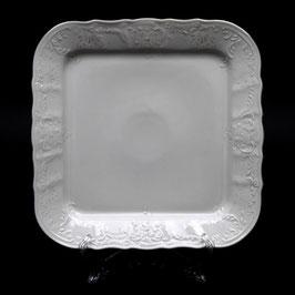 Поднос квадратный Bernadotte Платиновый Ободок 26 см