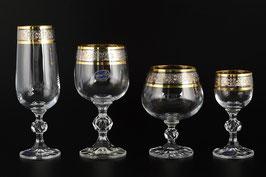 Набор питьевой подарочный  КЛАУДИЯ Bohemia Crystal 24 предмета