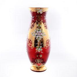 Ваза для цветов Bohemia Crystal ЛЕПКА СМАЛЬТА КРАСНАЯ 50 см