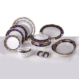 Столовый сервиз МАРИЯ ТЕРЕЗА СИНЯЯ Bavarian Porcelain  на 6 персон 27 предметов