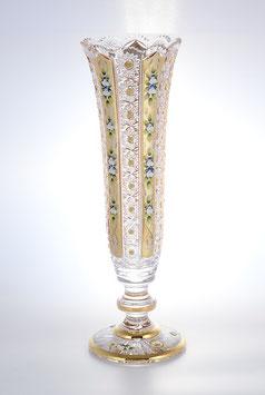 Хрустальная ваза для цветов Max Crystal ХРУСТАЛЬ С ЗОЛОТОМ И ЛЕПКОЙ 44 см