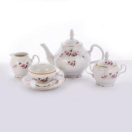 Чайный сервиз РОЗА СЕРАЯ Bernadotte на 6 персон 15 предметов