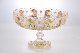 Хрустальная ваза для фруктов Max Crystal ХРУСТАЛЬ С ЗОЛОТОМ 30 см
