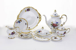 Немецкий чайный сервиз Weimar МЕЙСЕНСКИЙ БУКЕТ на 12 персон 54 предмета ( артикул МН 28283 В )