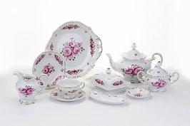 Немецкий чайный сервиз Weimar РОЗА Розовая на 6 персон 30 предметов ( артикул МН 32141 В )
