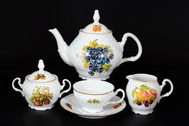 Чайный сервиз Bernadotte ФРУКТЫ на 6 персон 15 предметов
