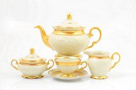 Чайный сервиз Sterne Porcelan МАТОВАЯ ПОЛОСА Ивори на 6 персон 15 предметов