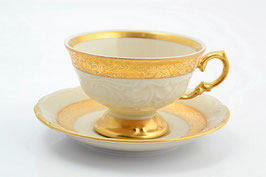 Набор для чая Sterne Porcelan МАТОВАЯ ПОЛОСА Ивори на 6 персон 12 предметов