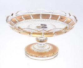 Хрустальная ваза для конфет Bohemia Cristal ЗОЛОТАЯ ПОЛОСА 18 см