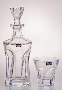 Набор  для виски АПОЛЛО ПРОЗРАЧНЫЙ Bohemia Crystal 7 предметов