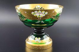Ваза для фруктов Bohemia crystal ЛЕПКА СМАЛЬТА ЗЕЛЕНАЯ 26 см