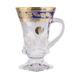 Набор кружек для кофе КВАДРО КОБАЛЬТ Bohemia Design на 6 персон