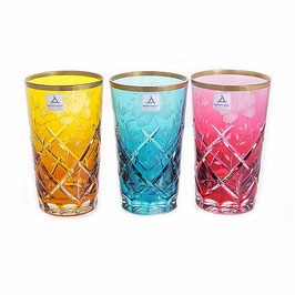Набор хрустальных стаканов Arnstadt SUNROSE COLOUR 360 мл