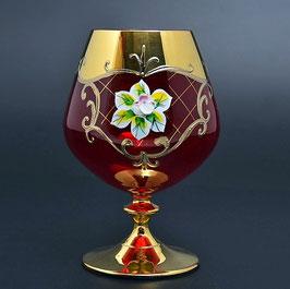 Набор бокалов для бренди Bohemia Crystal ЛЕПКА СМАЛЬТА КРАСНАЯ 400 мл