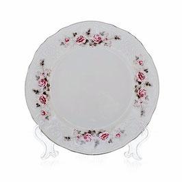Набор закусочных тарелок Bernadott РОЗА СЕРАЯ ПЛАТИНА 19 см