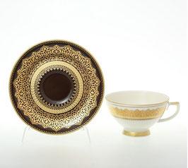 Набор для чая Falkenporzellan AGADIR BROWN Gold на 6 персон 12 предметов