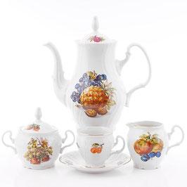 Кофейный сервиз Bernadotte ФРУКТЫ на 6 персон 15 предметов