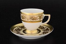 Набор для кофе Falkenporzellan CREM GOLD на 6 персон 12 предметов