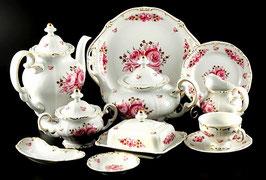 Немецкий чайный сервиз Weimar РОЗА Розовая на 12 персон 55 предметов ( артикул МН 2815 В )