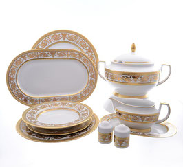 Столовый сервиз Falkenporzellan IMPERIAL WHITE GOLD на 6 персон 26 предметов