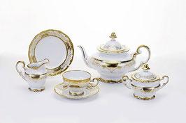 Немецкий чайный сервиз Weimar СИМФОНИЯ ЗОЛОТАЯ на 6 персон 21 предмет ( артикул МН 3649 В )