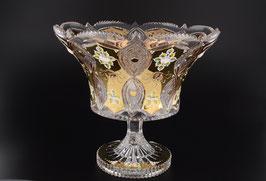 ХРУСТАЛЬ С ЗОЛОТОМ ваза для фруктов 31 см