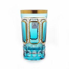 Набор хрустальных стаканов Arnstadt АНТИК БИРЮЗА 360 мл