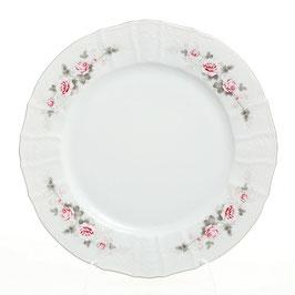 Блюдо круглое Bernadott РОЗА СЕРАЯ ПЛАТИНА 30 см