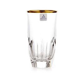 Набор хрустальных стаканов  ARNSTADT ПАЛАИС ЗОЛОТО 300 мл ( артикул МН 28188 В )