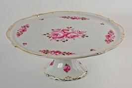 Блюдо для торта Weimar РОЗА Розовая 33 см ( артикул МН 19937 В )