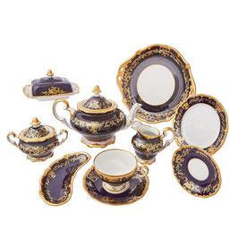 Немецкий чайный сервиз Weimar ЮВЕЛ СИНИЙ на 6 персон 30 предметов ( артикул МН 30178 В )