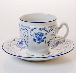 Набор для чая Bernadotte СИНИЙ на 6 персон 12 предметов