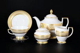 Чайный сервиз Falkenporzellan VALENCIA CREME GOLD на 6 персон 15 предметов