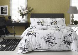Постельное Белье VALERON SATIN с вышивкой 2 спальное LORRAINE серый