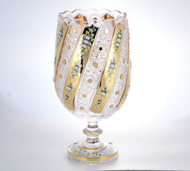Хрустальная ваза для цветов Max Crystal ХРУСТАЛЬ С ЗОЛОТОМ И ЛЕПКОЙ 38 см