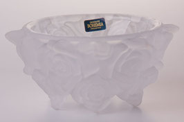 Ваза для конфет  ФРОСТ РОЗЫ ПРОЗРАЧНЫЕ Bohemia Crystal 16,5 см