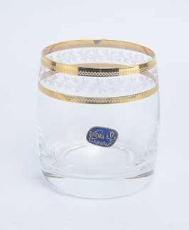 Набор стаканов для виски КЛАУДИЯ  ЗОЛОТОЙ ЛИСТ Bohemia Crystal 290 мл