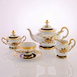 Немецкий чайный сервиз Weimar АННА АМАЛИЯ на 6 персон 15 предметов ( артикул МН 13098 В )