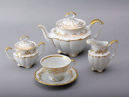 Чайный сервиз Bavaria БАРОККО ЗОЛОТО на 6 персон 15 предметов