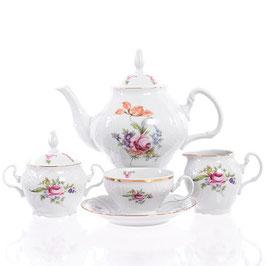 Чайный сервиз  ПОЛЕВОЙ ЦВЕТОК Bernadotte на 6 персон 15 предметов
