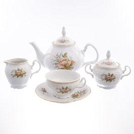Чайный сервиз ОСЕННИЙ ЛИСТ Bernadotte на 6 персон 15 предметов