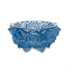 Ваза для конфет  ФРОСТ РОЗЫ ГОЛУБЫЕ Bohemia Crystal 16,5 см