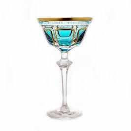 Хрустальный бокал для мартини Arnstadt АНТИК БИРЮЗА 150 мл