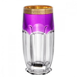 Набор стаканов Bohemia Crystal САФАРИ ФИОЛЕТОВЫЕ 350 мл