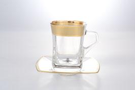Набор для чая КЛАУДИЯ МАТОВАЯ Bohemia Crystal на 6 персон 12 предметов