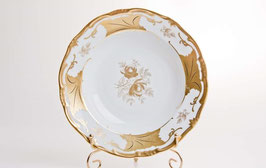 Набор глубоких тарелок Weimar КЛЕНОВЫЙ ЛИСТ БЕЛЫЙ 24 см ( артикул МН 4135 В )