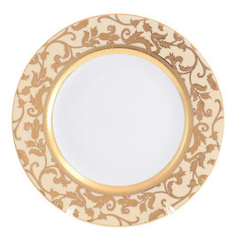 Набор закусочных тарелок Falkenporzellan TOSCA CREM GOLD 21 см